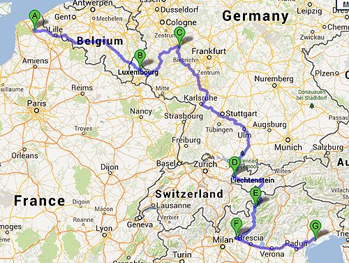France Switzerland Italy Austria Map | www.bilderbeste.com